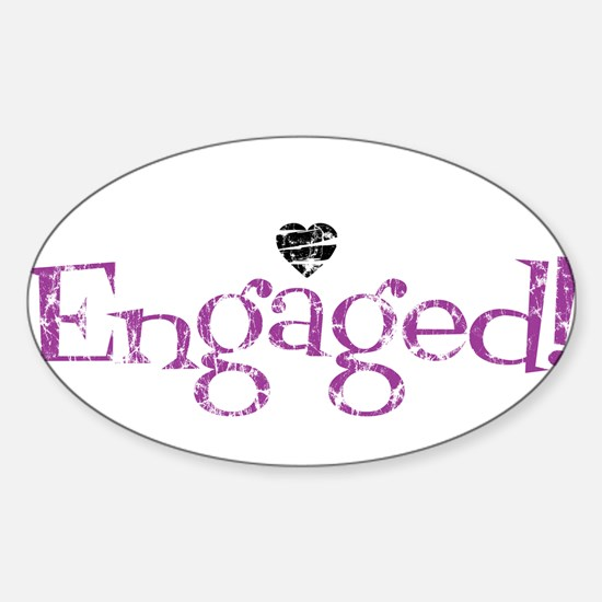 Cute Newly married Sticker (Oval)