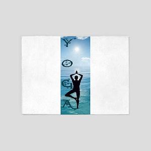 Yoga Blue Ocean 5'x7'Area Rug