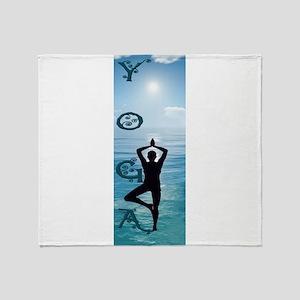 Yoga Blue Ocean Throw Blanket