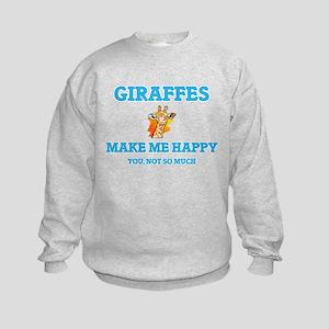 Giraffes Make Me Happy Sweatshirt