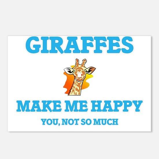 Giraffes Make Me Happy Postcards (Package of 8)