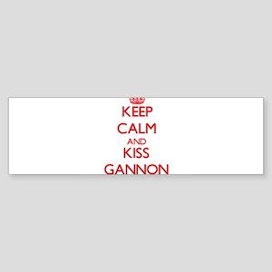 Keep Calm and Kiss Gannon Bumper Sticker