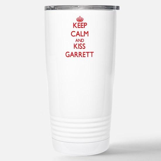 Keep Calm and Kiss Garrett Travel Mug