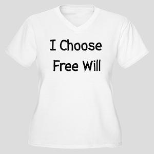 Choose Free Will Women's Plus Size V-Neck T-Shirt