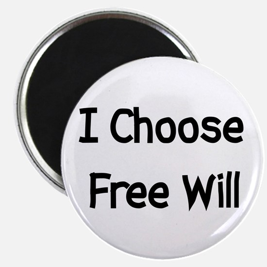 """Choose Free Will 2.25"""" Magnet (100 pack)"""