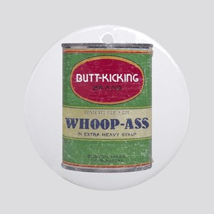 Can of Whoop Ass Ornament (Round)