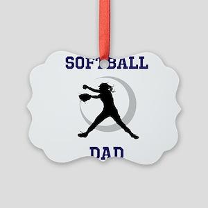 Softball Dad tshirt Ornament