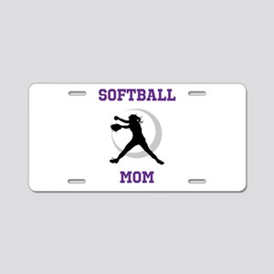 Softball Mom tshirt Aluminum License Plate