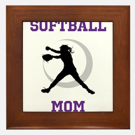 Softball Mom tshirt Framed Tile