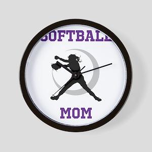 Softball Mom tshirt Wall Clock