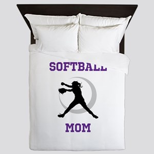 Softball Mom tshirt Queen Duvet