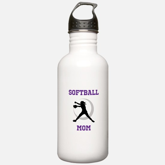 Softball Mom tshirt Water Bottle