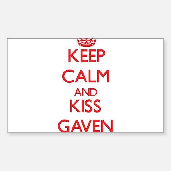Keep Calm and Kiss Gaven Decal