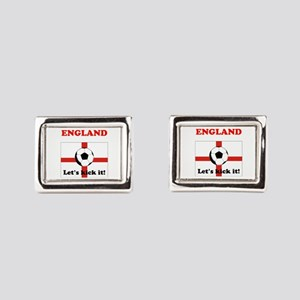 England Lets Kick It! Rectangular Cufflinks
