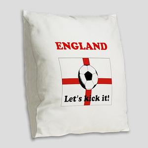 England Lets Kick It! Burlap Throw Pillow