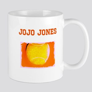 Custom Name Tennis Ball 47 Orange Fathers Day Mugs