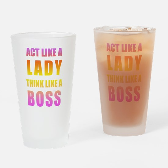 Drinking Glass - Pink Ombre