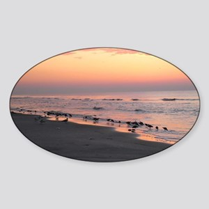 Hilton Head Sunrise Sticker (Oval)