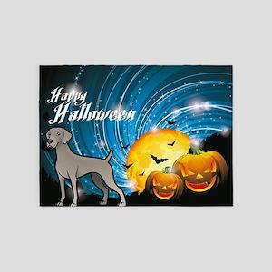 Happy Halloween Weimaraner 5'x7'Area Rug