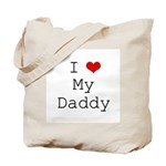 I Heart My Daddy Tote Bag