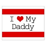 I Heart My Daddy Small Poster