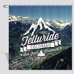 Telluride Mountain Vintage Shower Curtain