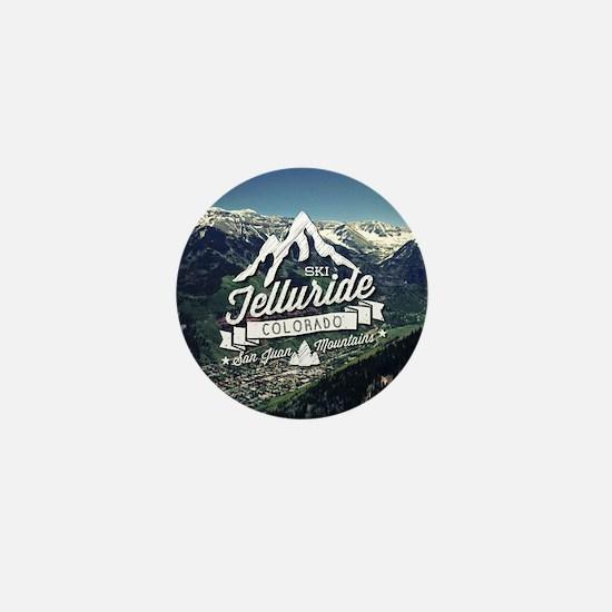 Telluride Mountain Vintage Mini Button