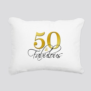50 and Fabulous Black Gold Rectangular Canvas Pill