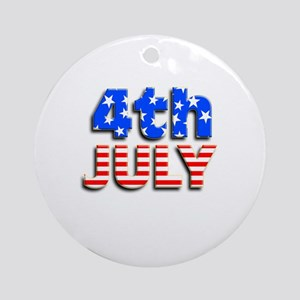 4th JULY Ornament (Round)