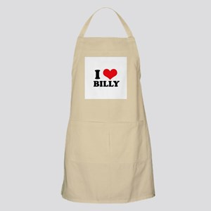 I Heart Billy BBQ Apron