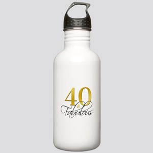 40 and Fabulous Black Stainless Water Bottle 1.0L