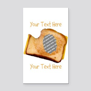 YOUR FACE Grilled Cheese Sand Rectangle Car Magnet