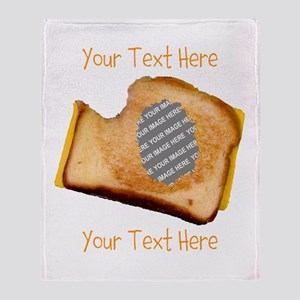 YOUR FACE Grilled Cheese Sandwich Throw Blanket