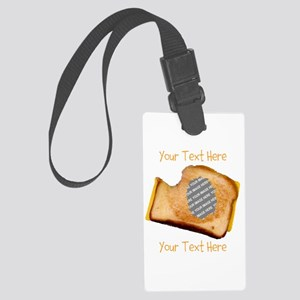 YOUR FACE Grilled Cheese Sandwic Large Luggage Tag