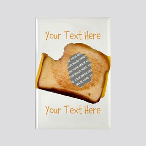 YOUR FACE Grilled Cheese Sandwich Rectangle Magnet