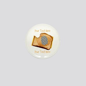 YOUR FACE Grilled Cheese Sandwich Mini Button