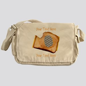YOUR FACE Grilled Cheese Sandwich Messenger Bag