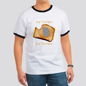 YOUR FACE Grilled Cheese Sandwich Ringer T