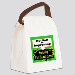My Golf Is Improving/Jane Swan/ Canvas Lunch Bag