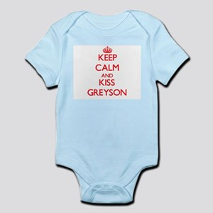 Keep Calm and Kiss Greyson Body Suit