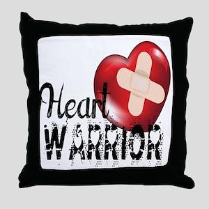 heart warrior Throw Pillow