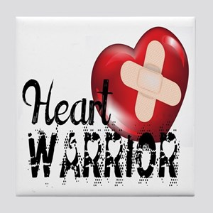 heart warrior Tile Coaster