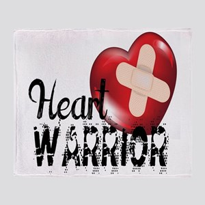 heart warrior Throw Blanket