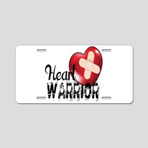 heart warrior Aluminum License Plate