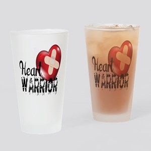 heart warrior Drinking Glass