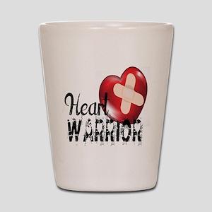 heart warrior Shot Glass