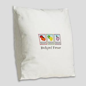 Backyard Farmer Burlap Throw Pillow