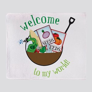 Welcome To My World Throw Blanket