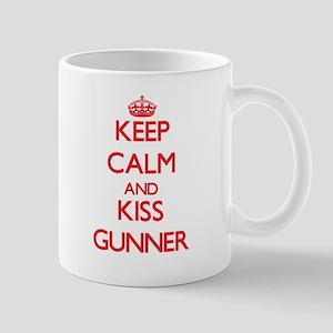Keep Calm and Kiss Gunner Mugs