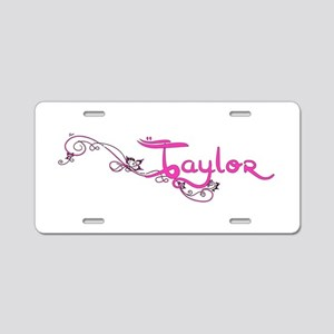 Taylor Flower Name Plate Aluminum License Plate